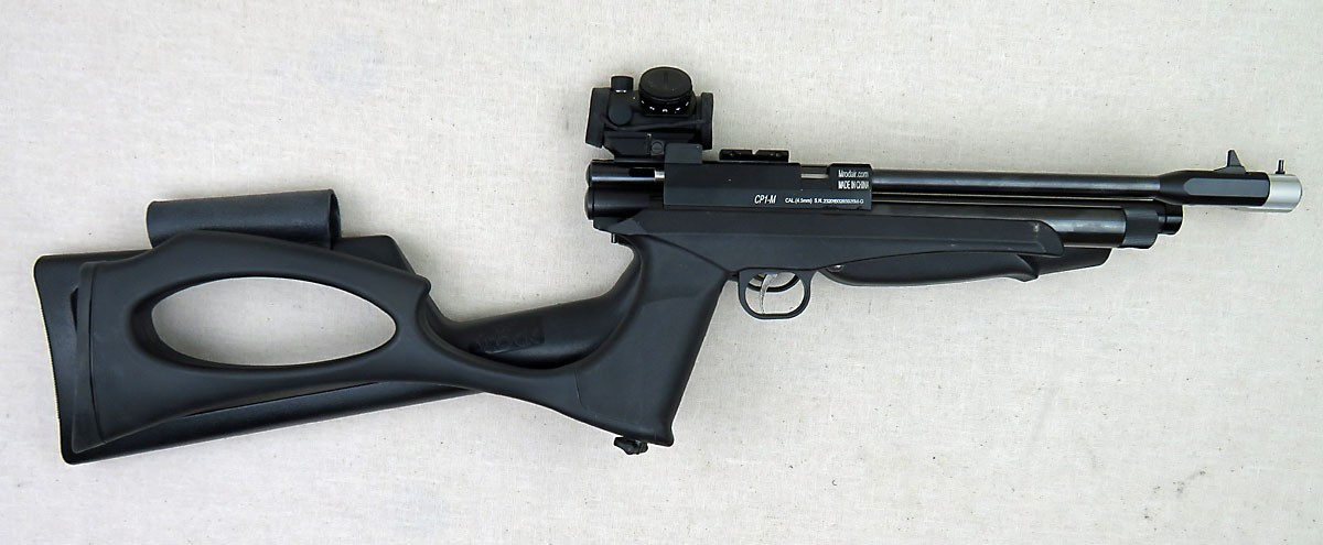 Airmax Master Blaster Stock Set installed on my CP1-M - Airguns